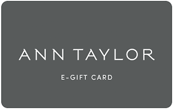 picture about Anne Taylor Printable Coupons called Present Card Ann Taylor