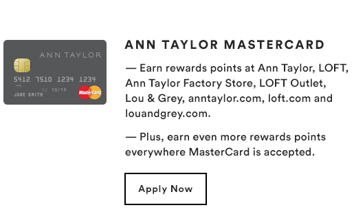 ANN TAYLOR MASTERCARD - Apple Now