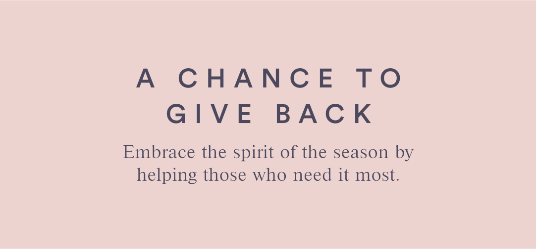 A CHANCE TO GIVE BACK