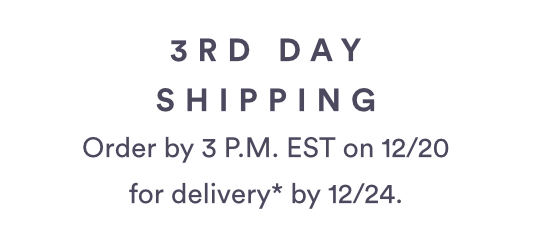 3RD DAY SHIPPING