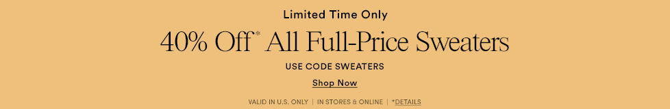 40% Off Full-Price Sweaters