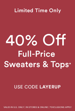 40% Off Tops & Sweaters
