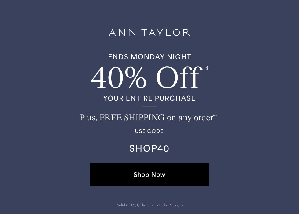 89575b5138 AT Mystery Promo 3 : ANN TAYLOR