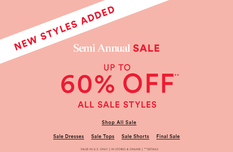 SHOP SEMI ANNUAL SALE