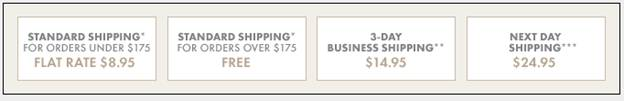 Ann Taylor Shipping Rates